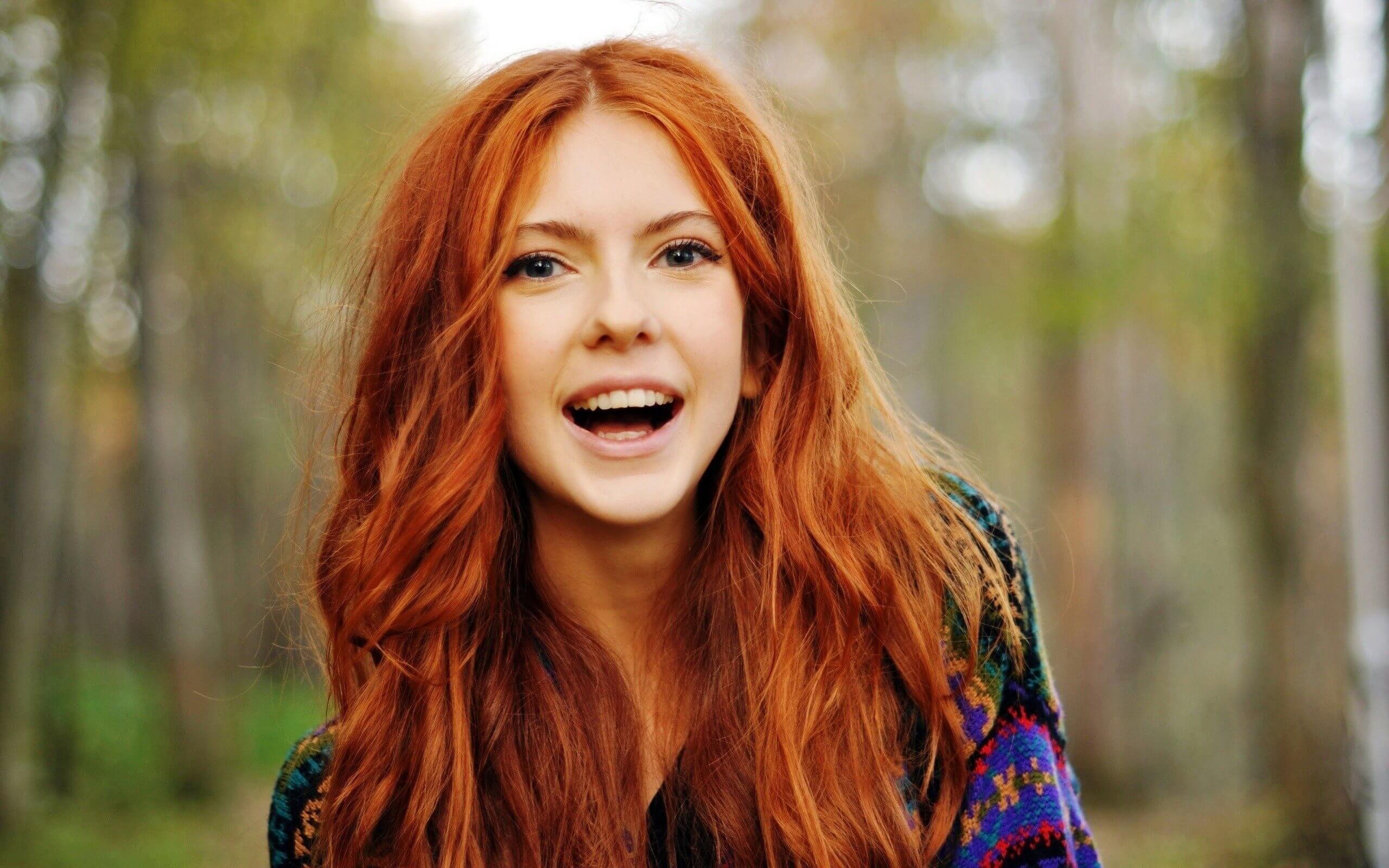 La couleur des cheveux roux
